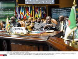 EGYPT: MUGABE ATTENDS AFRICAN UNION MEETING