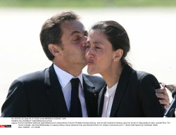 VILLACOUBLAY: Ingrid Betancourt arrival