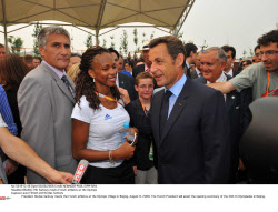 BEIJING: Pdt Sarkozy meets French athletes at the Olympic