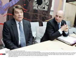 PARIS: Bernard Tapie during a hearing of the financial commission of the National Assembly