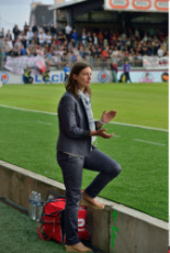 France Corinne Diacre first L2 football match between Brest and Clermont-Ferrand
