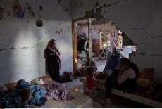 Family Living In Rubble