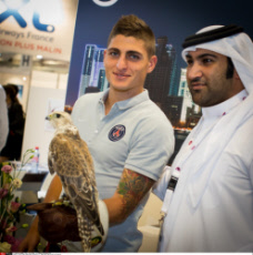 PSG Marco Verratti & the Falcon