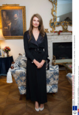 Reception for Sonnet Stanfill, the curator of the V&A Exhibition 'The Glamour Of Italian Fashion', London, Britain - 11 Nov 2014