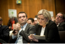 "FRA: Paris: Marine LE PEN launches its collective ""New Ecology"""