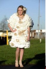 Wedding Dress from Toilet Paper