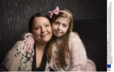 12-year-old girl battles dementia, Oldham, Greater Manchester, Britain - 10 Jan 2015