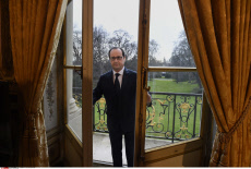 French President in his office