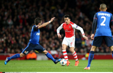 GB : London, soccer, Champions league Round of 16 first leg match between Arsenal and Monaco at the Emirates Stadium