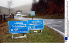 Four people die in collision on the A470, Brecon Beacons, Wales, Britain - 09 Mar 2015