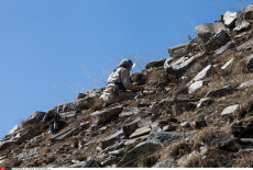Afghan deminers clearing the sheer peaks over Bagram Base