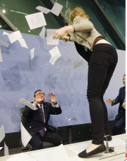 Mario Draghi attacked by protester