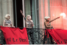 Femen activist disrupt May Day Speech