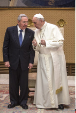 Raul Castro meets Pope Francis