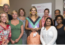 The Hague Queen Maxima attend Talentcoach, founded by Mariska Komproe-Feij