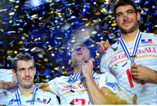 SOFIA: France vs Slovenia Gold medal match, Eurovolley 2015 CEV.
