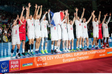2015 CEV Volleyball European Championship - Men Final match in Sofia, BUL: Slovenia vs France