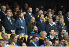 UK: Celebs at Rugby World Cup 2015 Final New Zealand-Australia