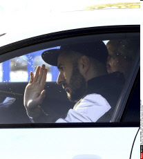 Karim Benzema  Arrives To Real Madrid Training