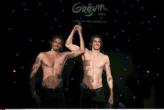 Paris French Swimmer Camille Lacourt effigy at the Grevin wax museum