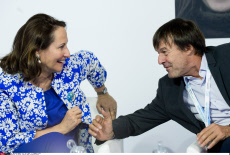 Le Bourget. Segolene Royal and Nicolas Hulot.