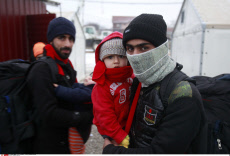 Refugees face winter cold