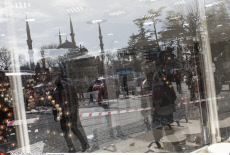 Turkey : Istanbul, Sultanahmet Square after the explosion caused by a Syrian suicide bomber