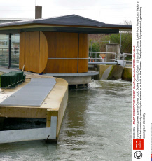 Hydroelectric power plant at Osney Lock, Botley, Oxford, Britain - 23 Jan 2016
