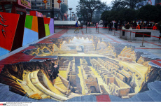 3D paintings on the street