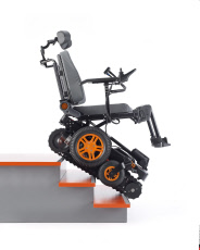 The wheelchair that can travel up steps