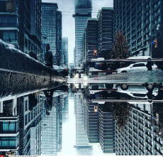 Stunning Photographs Capture Toronto's Beauty In Puddles