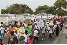 GUADELOUPE : Union demonstration for Labour Day