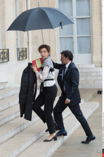 PARIS: Ministers arriving for an extraordinary Cabinet meeting at Elysee Palace