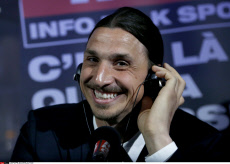 "Paris: An Happy Zlatan Ibrahimovic at ""RMC"""