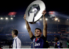 Paris: PSG Players celebrate their French L1 Title