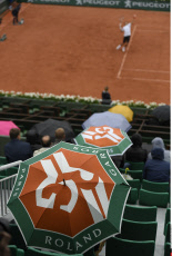 Roland Garros 2016 Rainny day on Philippe Chatrier court