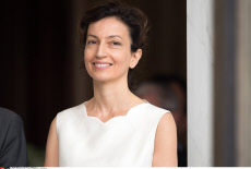 Paris: French Minister of Culture and Communication, Audrey Azoulay.
