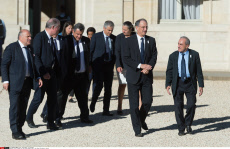 Paris: Members of the French Olympic team at the Elysee Presidential Palace