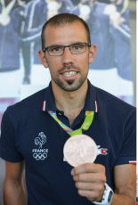 Paris: Meeting French medallists athletes with press