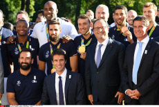 Rio 2016 French athletes and Francois Hollande