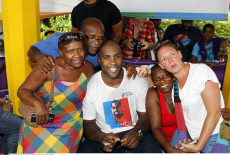 Teddy Riner back home