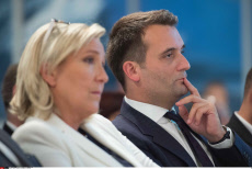 Paris. Marine Le Pen debates on education.