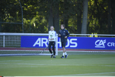 Clairefontaine France's football national team training session