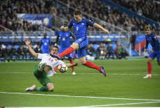 Football France vs Bulgarie match de qualification