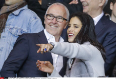 People: France: Football L1- Celebs at French L1 soccer Match, Paris Saint-Germain vs Olympique de Marseille