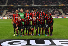 UEFA Europa League soccer match Nice vs Salzburg in Nice France