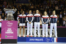 FEDCUP Tennis France v Rep CZECH