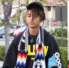 Jaden Smith And His Friend Twin As They Ham It Up For The Cameras