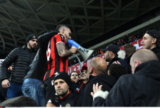 UEFA Europa League soccer match Nice vs Krasnodar in Nice France