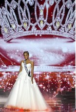 MONTPELLIER: Miss Guyane, Alicia Aylies wins the Miss France 2017 election.